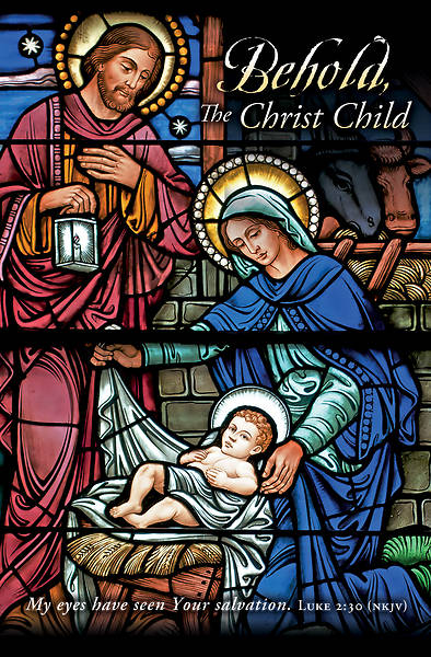 Picture of Behold the Christ Child Christmas Regular Size Bulletin
