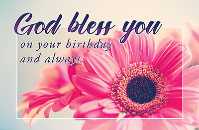 Picture of God Bless Your Birthday Postcard