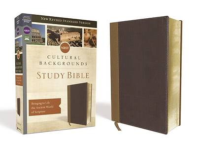 Picture of NRSV Cultural Backgrounds Study Bible, Leathersoft, Tan/Brown, Comfort Print