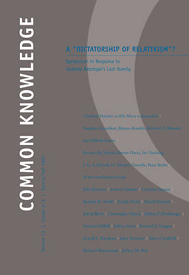 Common Knowledge Volume 13