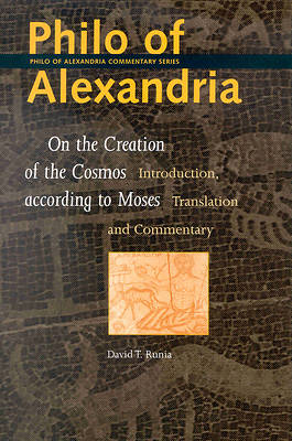 Picture of Philo of Alexandria, on the Creation of the Cosmos According to Moses