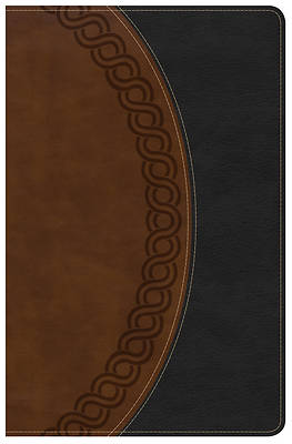 Picture of NKJV Large Print Personal Size Reference Bible, Black/Brown Deluxe Leathertouch