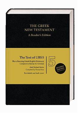 Picture of UBS 5th Revised Greek New Testament Reader's Edition