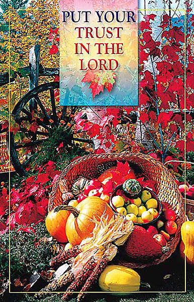 Picture of Put Your Trust in the Lord, Thanksgiving, Regular Bulletin (Package of 50)