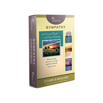 Sympathy Boxed Cards-Landscapes Designs Pack of 12