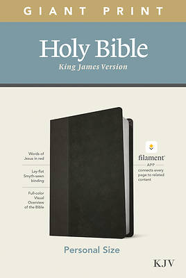 Picture of KJV Personal Size Giant Print Bible, Filament Enabled Edition (Leatherlike, Black/Onyx)