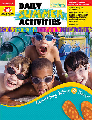 Daily Summer Activities, Moving from 4th to 5th Grade