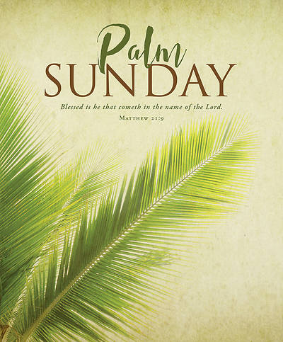 Picture of Blessed is He Palm Sunday Legal Size Bulletin
