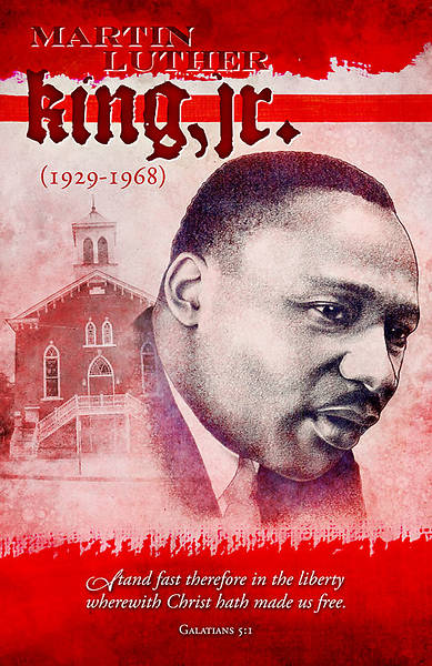 Black History Martin Luther King Jr. Bulletin Regular (Package of 100)