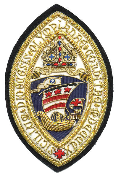 Hand Embroidered Diocesan Seal - Diocese of Olympia