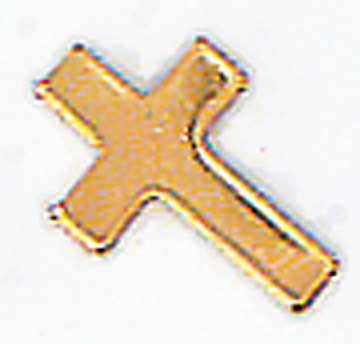 Gold Cross Medium  Lapel Pin