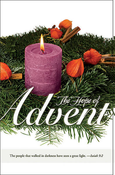 """Hope of Advent""  Bulletin - Advent Series"