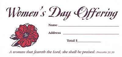 Women's Day Offering Envelope - Pack of 100
