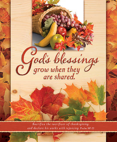 Thanksgiving Bulletin Gods Blessings Large (Package of 100)