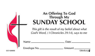 Sunday School UMC Offering Envelope Box Set Regular