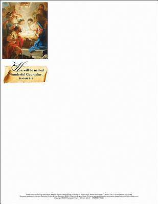 Wonderful Counselor/Christmas Nativity Letterhead (Pkg of 50)