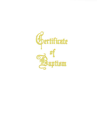 Traditional Steel-Engraved Adult/Youth Baptism Certificate (Pkg of 3)