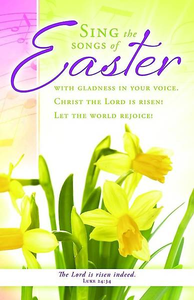 Sing the Songs Easter Bulletin