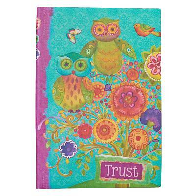 Journal Printed Lux-Leather Owls Trust Proverbs 3