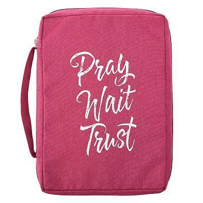 Picture of Bible Cover Medium Value Pray Wait Trust