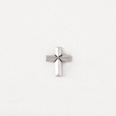 Pewter Lapel Pin - Angled Cross