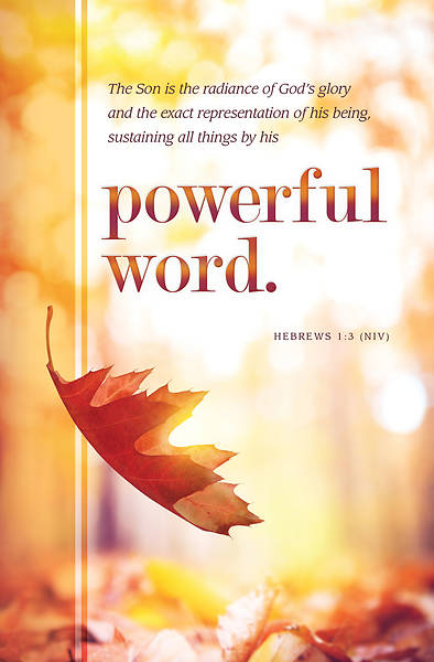 Powerful Word Fall General Regular Size Bulletin
