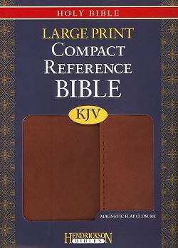 Picture of Large Print Compact Reference Bible-KJV-Magnetic Flap