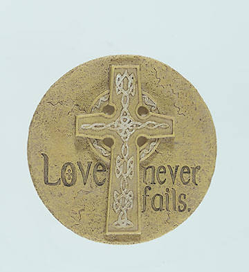 Picture of Love Never Fails Small Wall Plaque