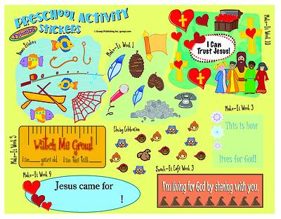 Picture of FaithWeaver Friends Preschool Activity Stickers pkg 5 Spring 2020