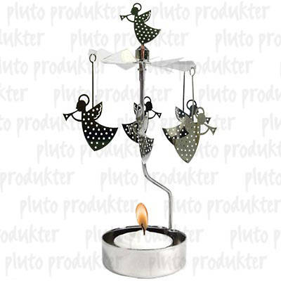 Trumpeting Angel Rotary Candle Holder