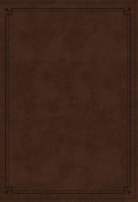 Picture of NKJV Study Bible, Imitation Leather, Brown, Red Letter Edition, Indexed, Comfort Print