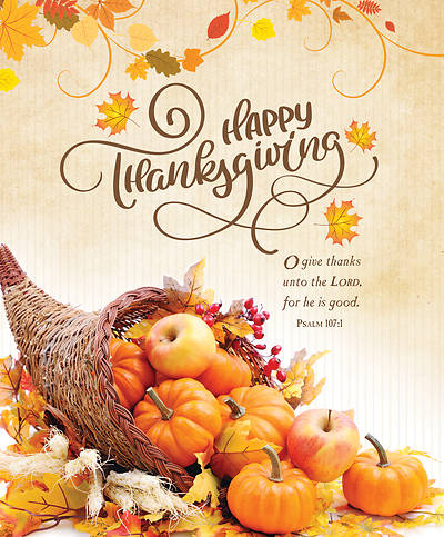 Happy Thanksgiving Legal Size Bulletin