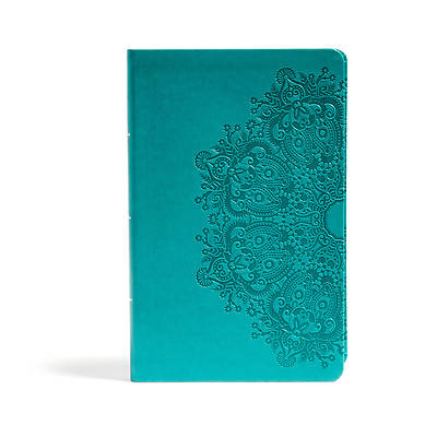 Picture of CSB Large Print Personal Size Reference Bible, Teal Leathertouch, Indexed