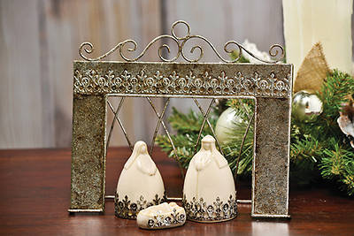 Holy Family with Metal Frame 4 Piece Set