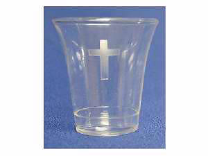 Disposable Communion Cup with Etched Cross - Box of 1000
