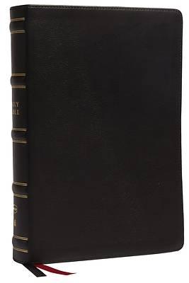 Picture of Nkjv, Single-Column Wide-Margin Reference Bible, Genuine Leather, Black, Red Letter, Comfort Print