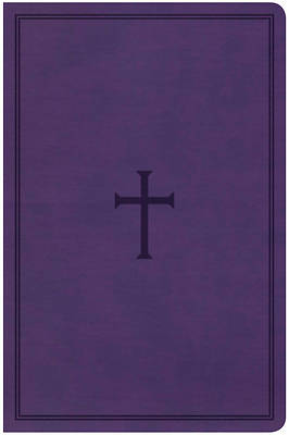 Picture of KJV Large Print Personal Size, Purple Cross Leathertouch, CBA Edition