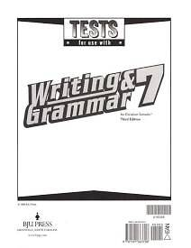 Writing and Grammar 7 Tests 3rd Edition