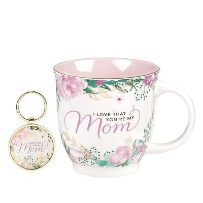 Picture of Gift Set Mug and Keyring I Love That You're My Mom