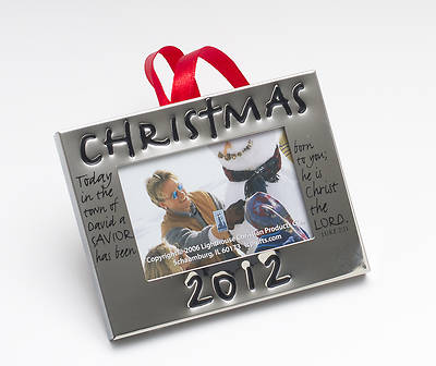 Christmas 2012 Silver Picture Frame Ornament