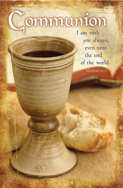 Matthew 28:20/Communion Bulletin, Regular (Package of 100)