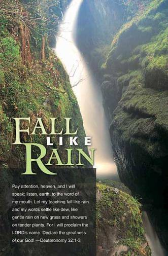 Fall Like Rain Bulletin Regular (Package of 100)