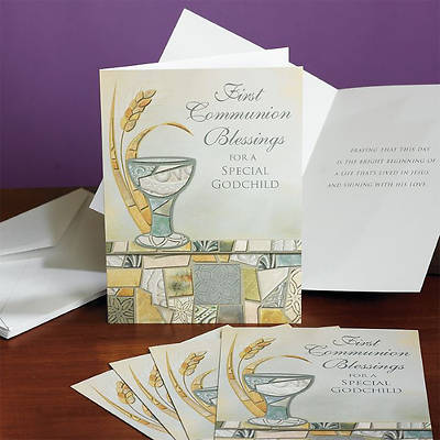 First Communion Blessings Godchild Card