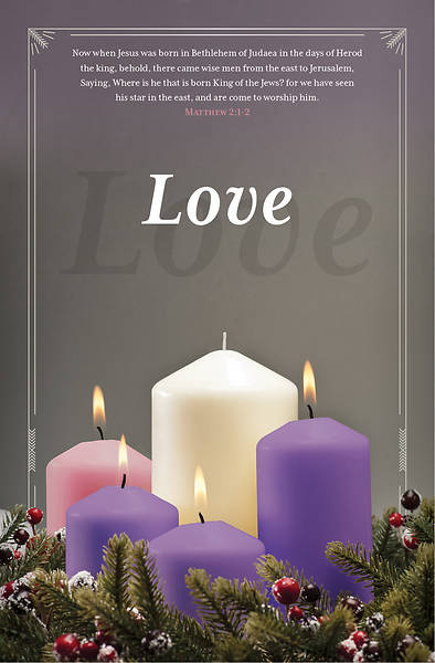 Picture of Love Advent Regular Size Bulletin