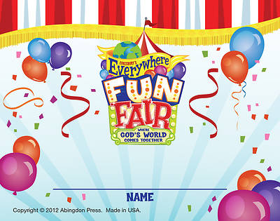 Vacation Bible School 2013 Everywhere Fun Fair Pkg of 24 Nametag  Card VBS