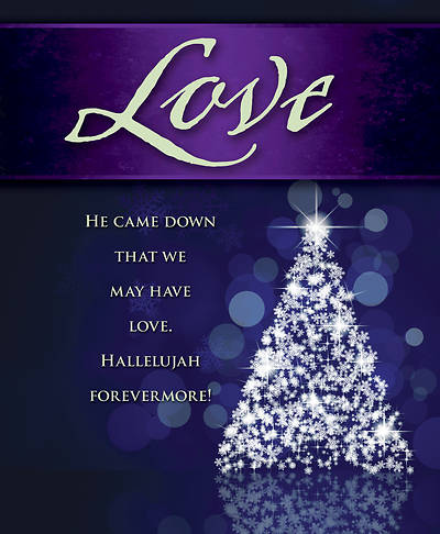 Picture of Love Tree Advent Bulletin, Large (Pkg of 50)