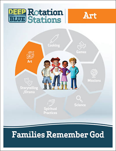 Picture of Deep Blue Rotation Stations: Families Remember God - Art Station Download
