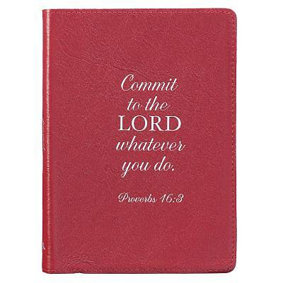 Picture of Journals Full Grain Genuine Leather Commit Red