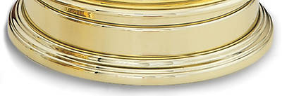 Communion Tray Base, solid brass