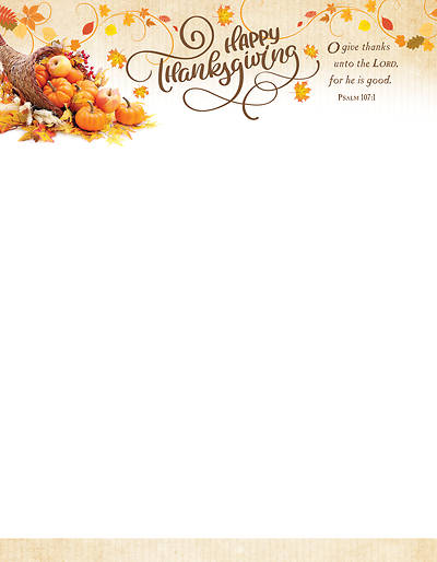 Picture of Happy Thanksgiving Letterhead